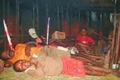 Вот так дружно спят в этом доме папуасы