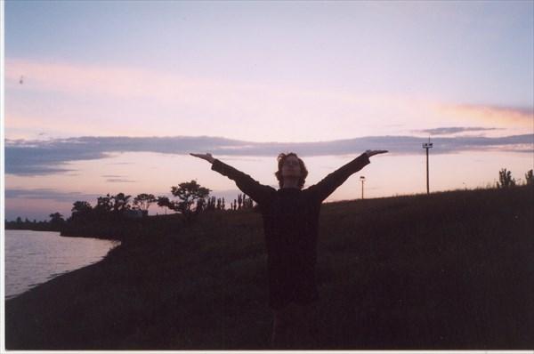 Закат у Грязевого озера, Саки