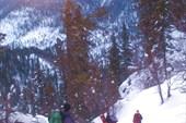 Спуск на рассвете по восточному склону горы Кокуя