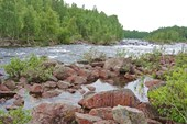Река Ковда, пороги