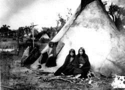 Лагерь индейцев Арапахо, 1870е