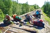 Разобранная железная дорога ведущая в Ревду