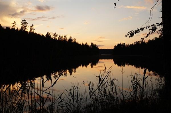 Стоянка на озере Suurijarvi