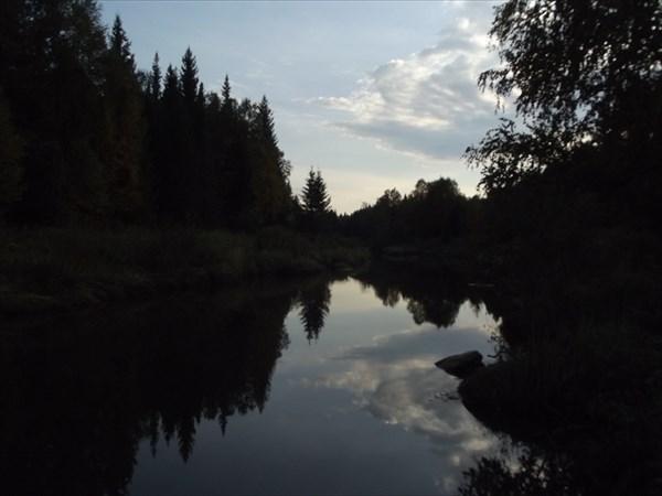 Закат на реке Березяк