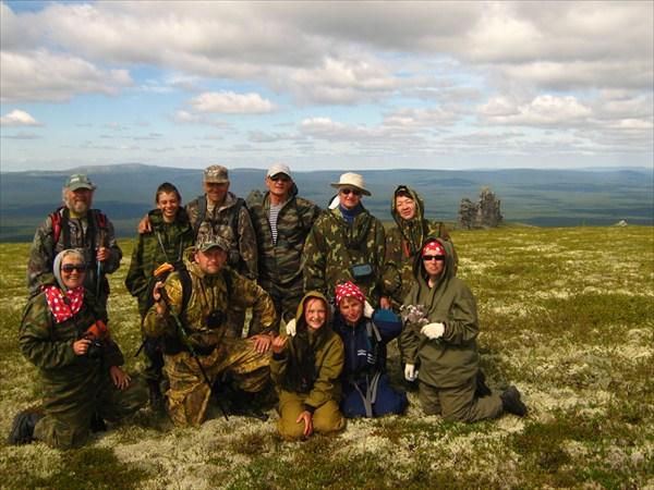 Группа Юрия Мигуренко на плато Мань-Пупу-Нёр 07.07.12.