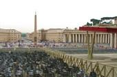 Ватикан. Вид на Площадь св. Петра от Собора