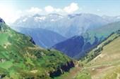 Долина реки Загеданки. Оттуда, снизу мы пришли.