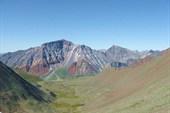 Вид с Шумакского перевала на долину р. Эхе-Гер