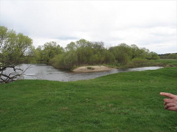 Устье Надвы. Место впадения в реку Ипуть.
