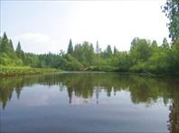 Впадение Сухого Тыпыла, дальше река называется Тыпыл