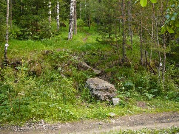Начало тропы на скалы