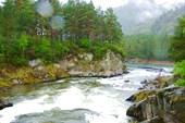 Место впадения Чемала в Катунь
