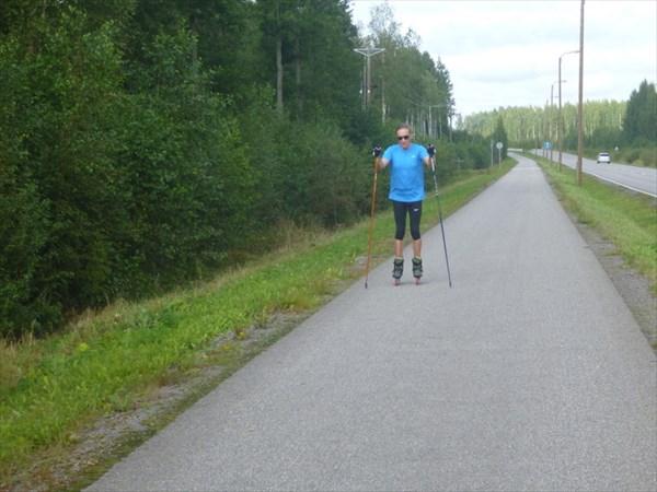 Прекрасные условия для тренировок лыжникам