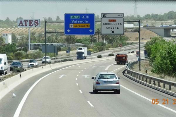 Въезжаем в Валенсию.