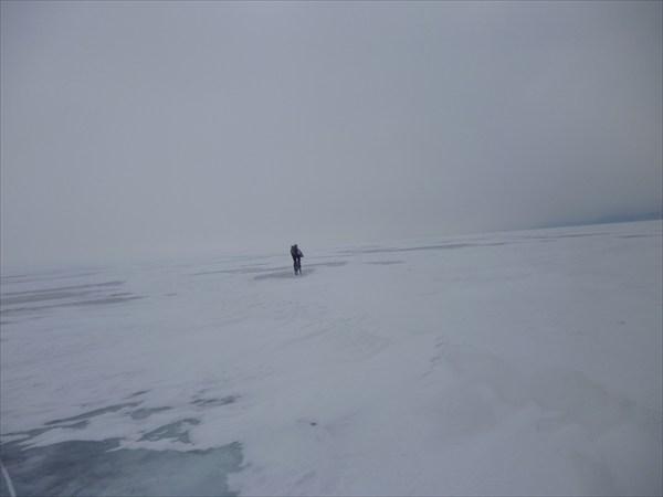 Зигзагами между снежных островов. 2013-03-16-15:47:53