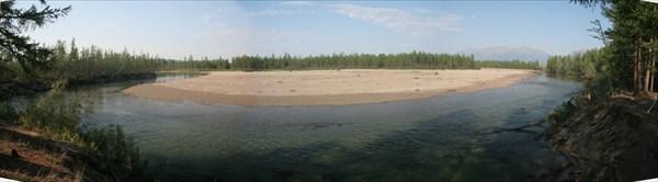 Сперва мы бродили реку Средний Сакукан