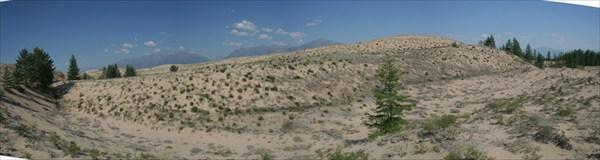 Одна из первых панорам Чарских Песков
