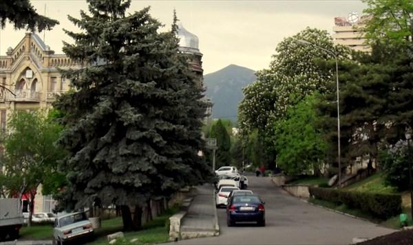 Вид на Бештау из Пятигорска