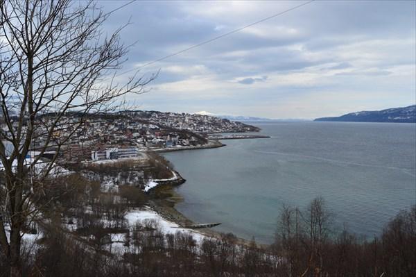 Вид на город  от кемпинга