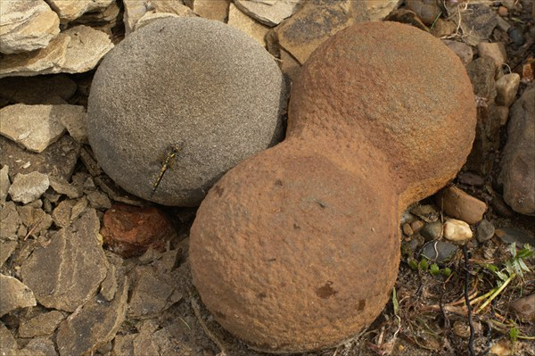 Ядра. Любопытные камни шаровидной формы. Похожи на пушечные ядра