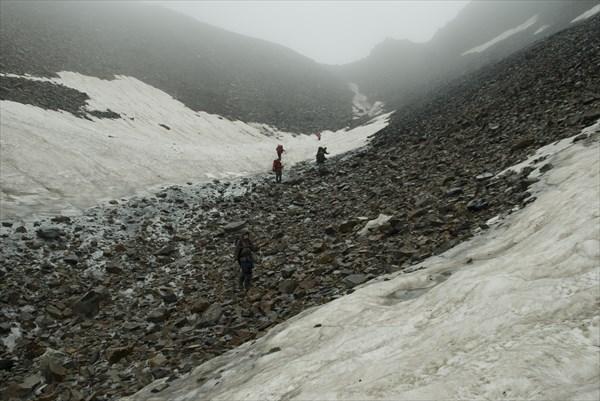 Спуск с Алибекского перевала к Аксауту