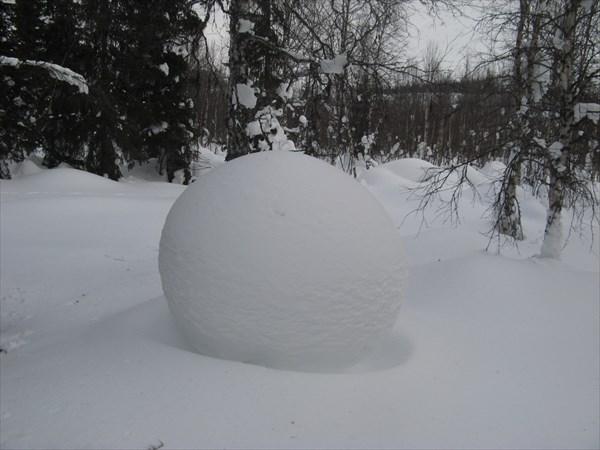 Творчество снежного человека, не иначе. Фото Никиты Насыпайко.