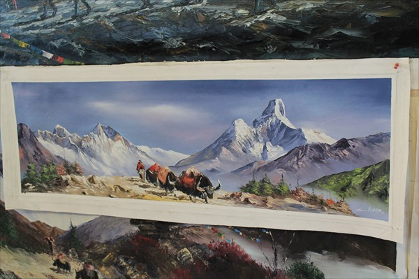 Приобретенная мною картина в Намче Базаре
