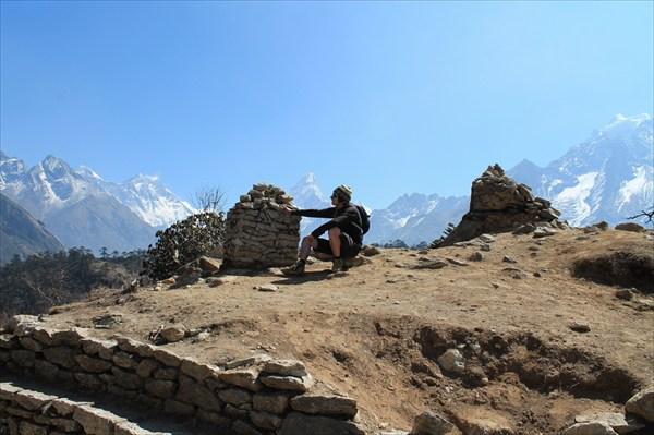 Шикарное место с видом на Эверест, Лхотце и Ама Даблам