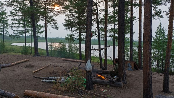 Бивак на озере Таежное