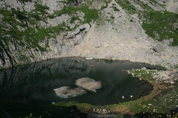Озеро перед сброской