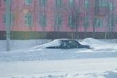 Немножко снегом накрыло