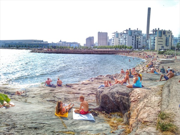 Хельсинки. Городской пляжик :)