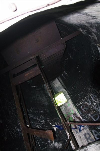 Лестница, ведущая наверх башни.