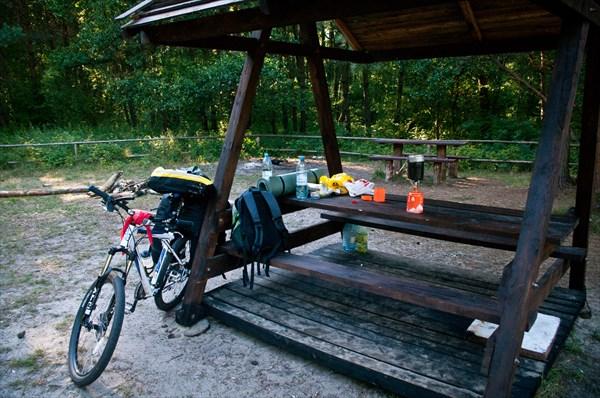 Обед на озере Чайка, где я думал заночевать