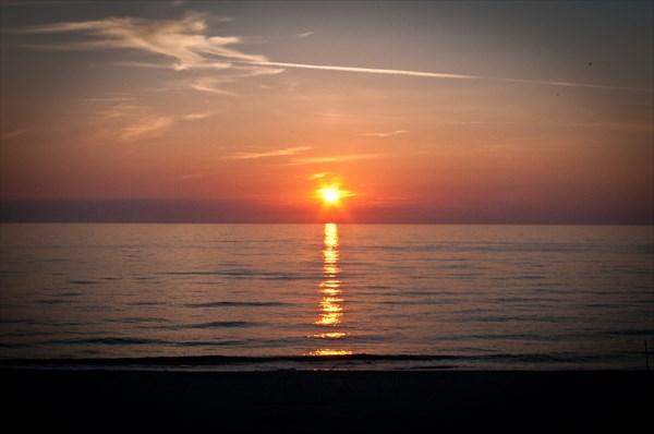 Прекрасный закат над Балтикой