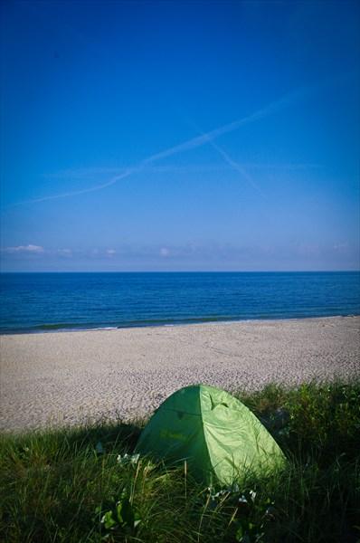 Место первой ночевки. Балтийское море