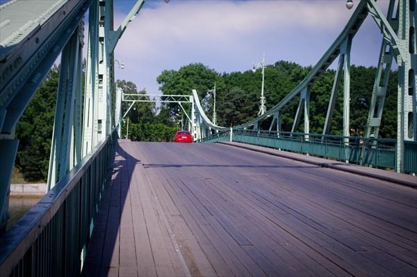 Покрытие моста деревянное