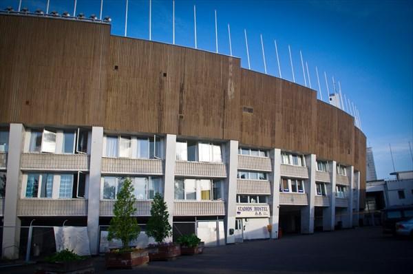Хельсинки. Олимпийский стадион, где был расположен мой хостел.