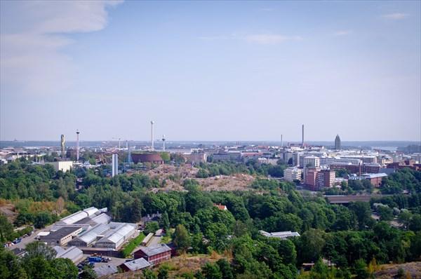 Хельсинки. Вид с башни олимпийского стадиона