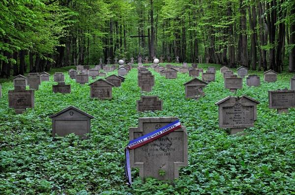 Воинское захоронение времён Первой мировой войны. 1914 год.