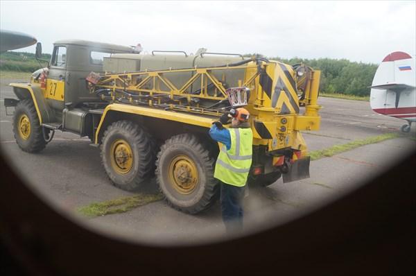 Вид из окна самолета.