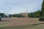 Одна из площадей Тулы. Слева гостиница `Тула`