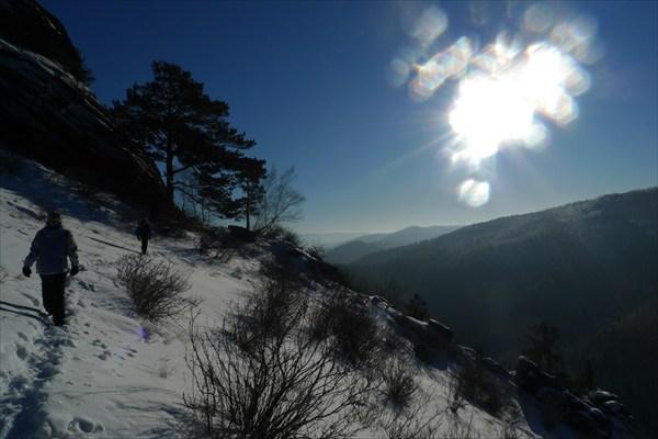 Слепящее солнце
