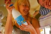 ксюха рекламирует воронежскую молочную продукцию вкуснотеево