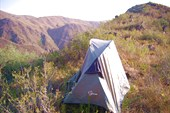 Лагерь на гребне у третьего водопад