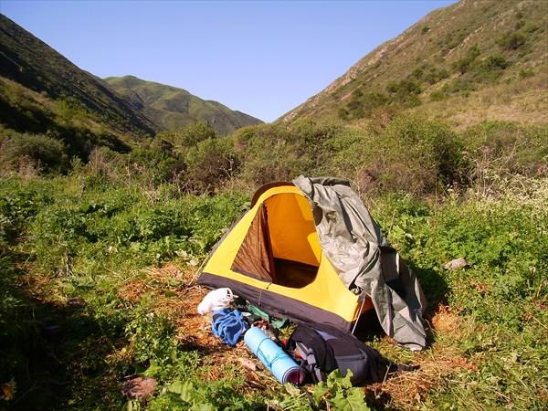 Лагерь у второго водопада