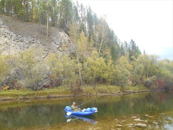 Рыбалка в левом притоке Киренги.