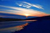 Река Томь. Закат.