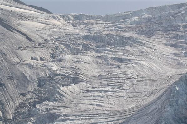 Ледник с трещинами
