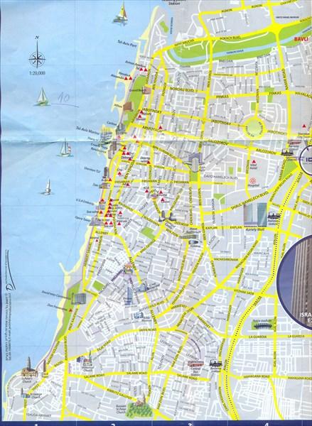 100-Карта Тель-Авива